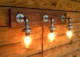 diy mason jar light with iron pipe 28 best steunk lighting images on pinterest night ls