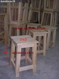 taburetes de pino taburete pino madera 45cms en crudo al por mayor