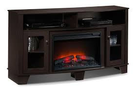lasalle fireplace tv stand espresso leon u0027s