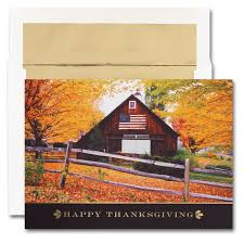 flag on barn thanksgiving cards from the impressions blank