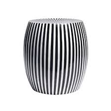 Black And White Rooster Decor B U0026w Striped Side Table U2013 Black Rooster Decor