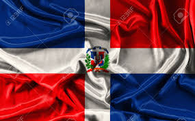 Dominican Republic Flag History Flag Of Dominican Republic Waving Fabric Background Wallpapers