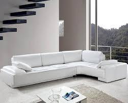 Modern White Bonded Leather Sectional Sofa Living Room White Leather Modern Design Sectional Sofa Set