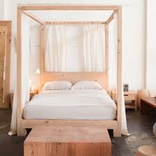 wooden canopy bed frame genwitch