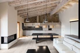 modern living kitchens rustic home rehabilitated with a modern twist