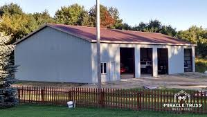 easy assemble diy metal garage or shop miracle truss garages and shops 4 pre engineered buildings