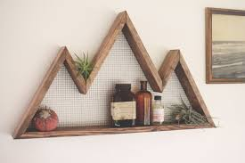 mountain wall art shelf mountain home decor wall hanging