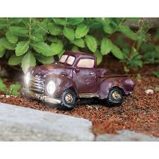 Vintage Ford Truck Fabric - outdoor solar powered garden light vintage red pick up truck