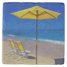 Beach Umbrella And Chairs Beach Chair Drink U0026 Beverage Coasters Zazzle