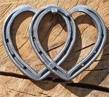 heart shaped horseshoes aslockton forge