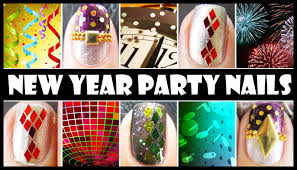 new year party nails glitter nail art design tutorials easy