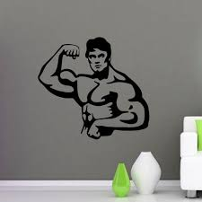 home gym wall decor sport wall decals athlete fight club bodybuilder decal gym wall