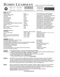 free acting resume template theater resume template free acting resume template jobsxs
