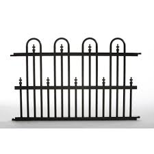 Decorative Metal Sheets Home Depot by Allure Aluminum Metal Fencing Fencing The Home Depot