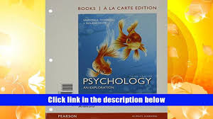 audiobook psychology an exploration books a la carte edition