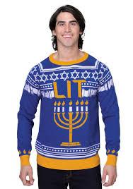 menorah hat hanukkah menorah sweater