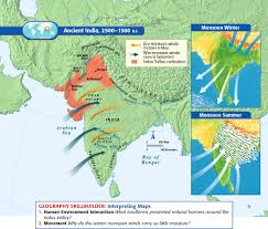 Indian Map Ancient India 2500 1500 B C History Pinterest History And