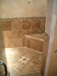 diagonal black slate floor mixed shower brown ceramic tile
