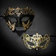 couples masquerade masks his hers masquerade mask luxury gold themed mask couples