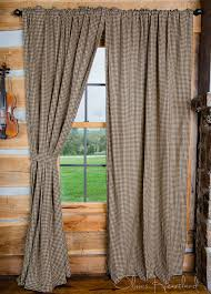black u0026 tan checkered panel curtains 84