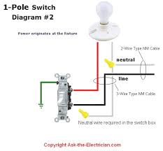 wiring diagram for a single pole light switch readingrat net
