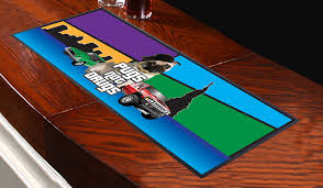 pugs not drugs design bar runner great for home bar shop cocktail