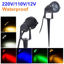 commercial electric led spike light 500 lumens 220v 110v outdoor lighting led garden light 3w 9w lawn l