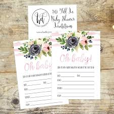 amazon com 50 fill in floral baby shower invitations baby
