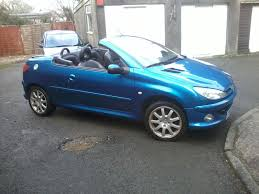 blue peugeot for sale metallic blue peugeot 206 cc for sale in plymouth devon gumtree