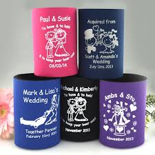 wedding koozie wedding ideas marvelous personalized weddingies cheap ideas