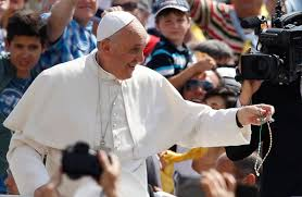 pope francis rosary pope says throwaway culture harms environment and human