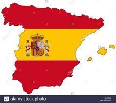 Flag Com Spain Flag Outline Stock Photo Royalty Free Image 28731390 Alamy