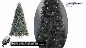 6 ft edwardian blue spruce pre lit multi function tree frosted
