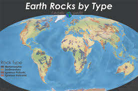 Earth World Map by Simplified Geologic World Map Showing Different Rock Types Oc