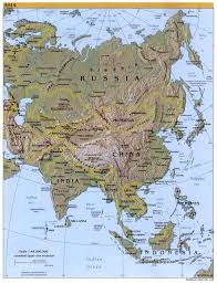 Physical Map Of China by Asia Physical Map 2000 Full Size