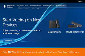 sony u0027s playstation vue finds a home on amazon fire tv
