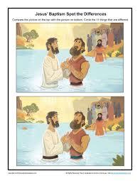 Jesus U0027 Baptism Spot The Difference Children U0027s Bible Activities