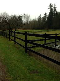 open looking fencing with the added dog security of wire fencing