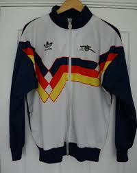 rare vintage adidas arsenal track top jacket retro 89 away shirt