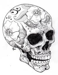 free printable halloween coloring pages for adults with skull for