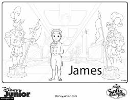 disney james sofia printable coloring