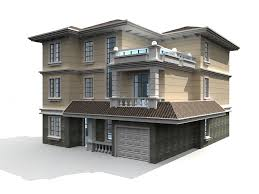 3 storey house 3 storey house 3d model 3ds max files free modeling