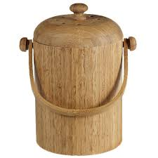 compost canister kitchen bamboo compost pail the container store