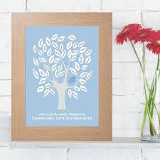 guest book alternative baby bird christening signature tree unique personalised