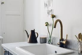 Gold Kitchen Faucet Gray Marble And Some Gold