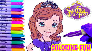 sofia the first coloring page fun coloring activity for kids