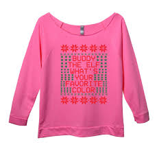 buddy the elf whats your favorite color womens 3 4 long sleeve