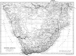 Map Of Africa Countries Of African Countries Black And White