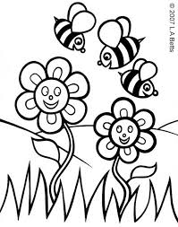 4 beautiful spring flowers coloring pages ngbasic