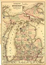 Map Of Michigan Lakes Railroad Map